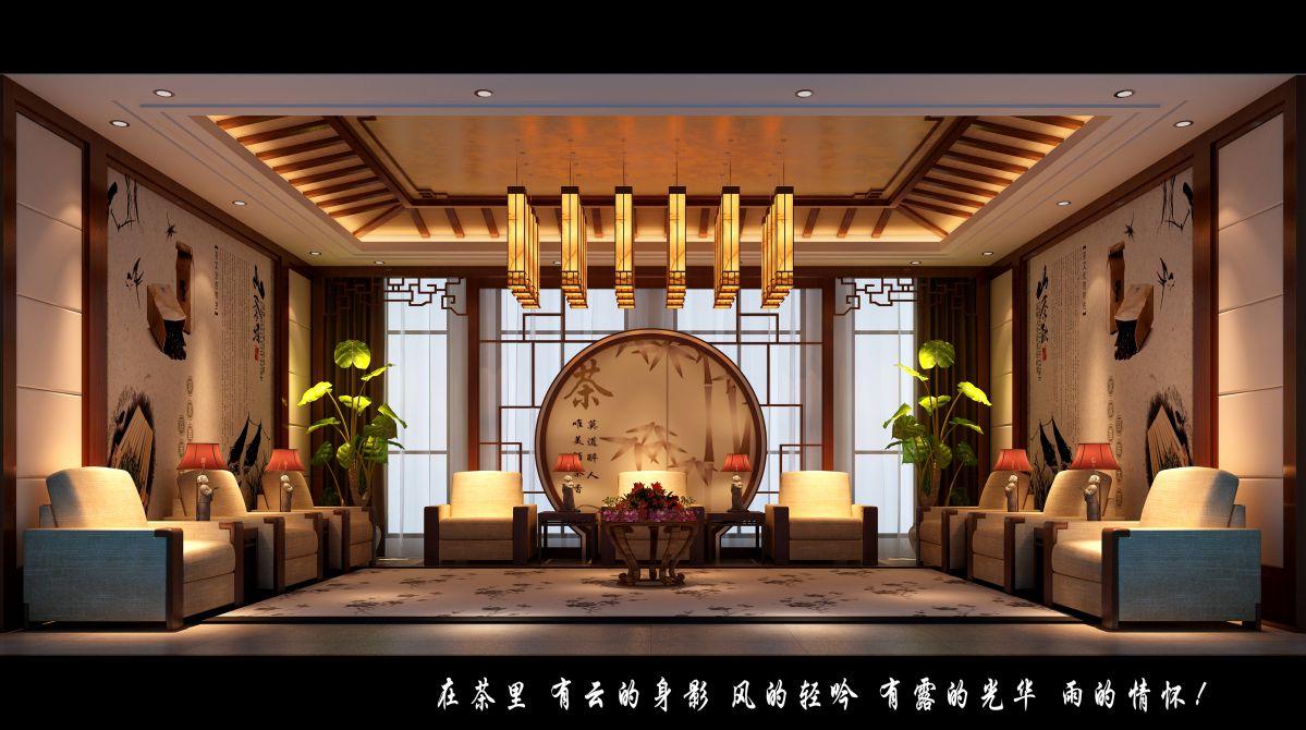 茶色新中式茶馆
